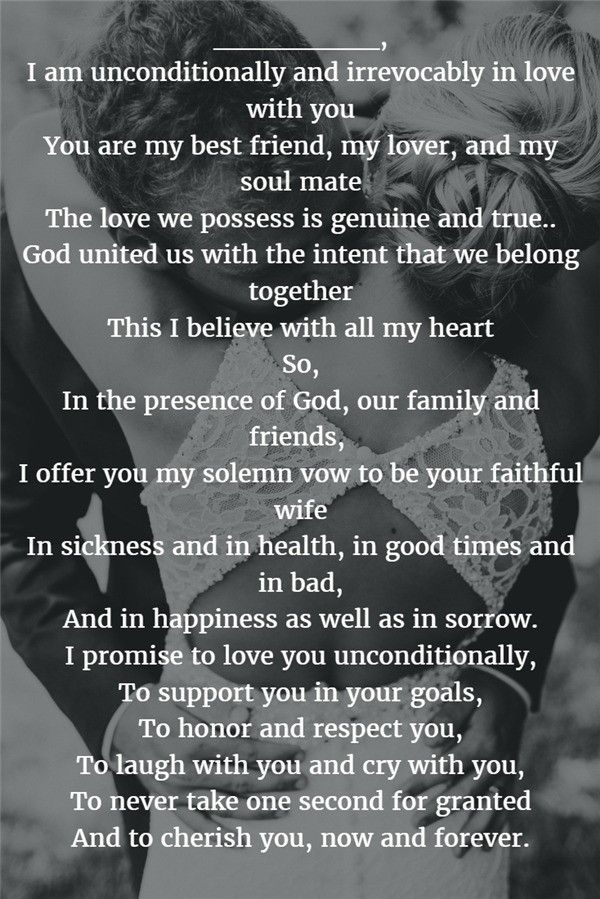 Genuine and True romantic wedding vows Vows quotes