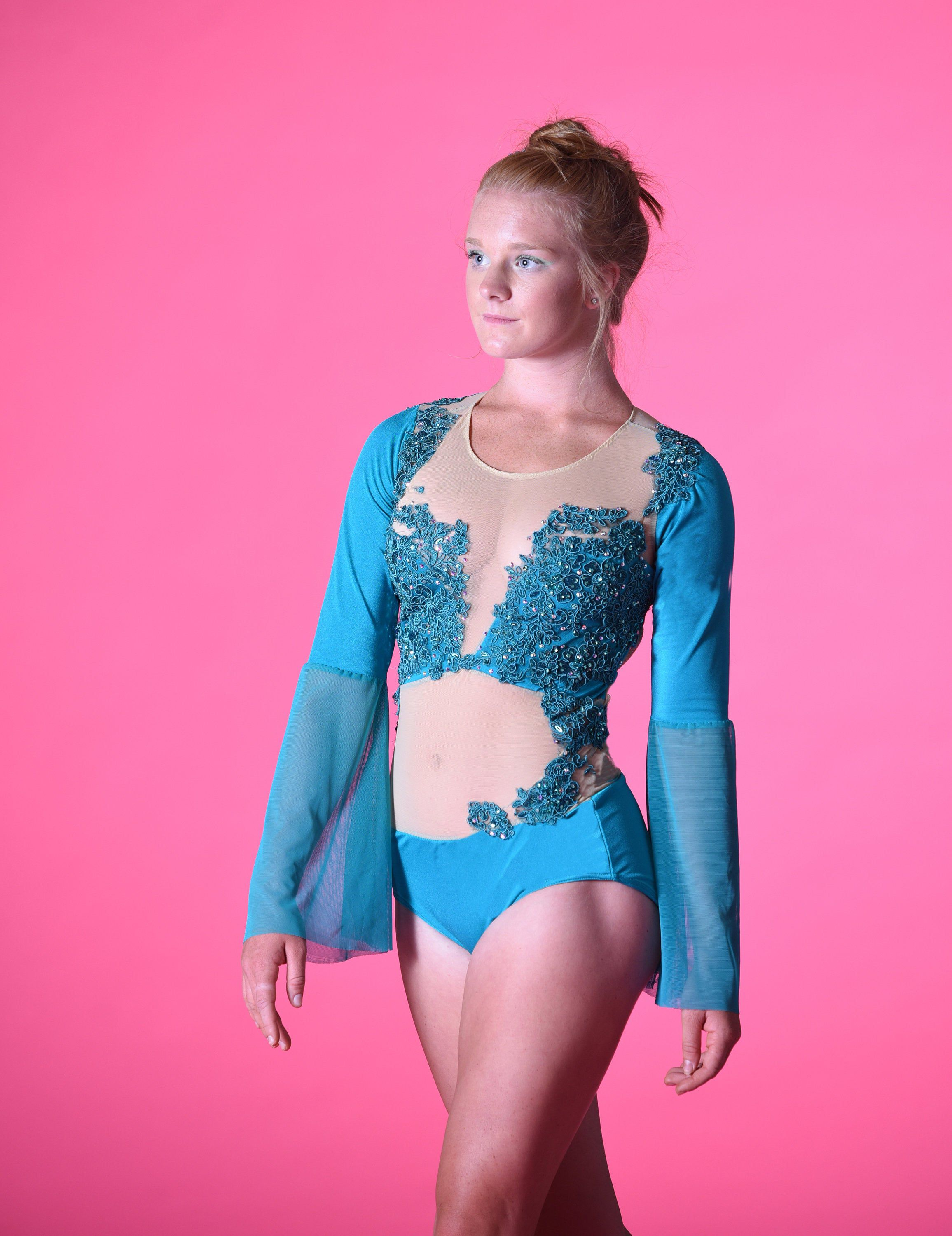 competition Dance Costume teal dance costume Contemporary dance Costume lyrical  dance costume custom leotard