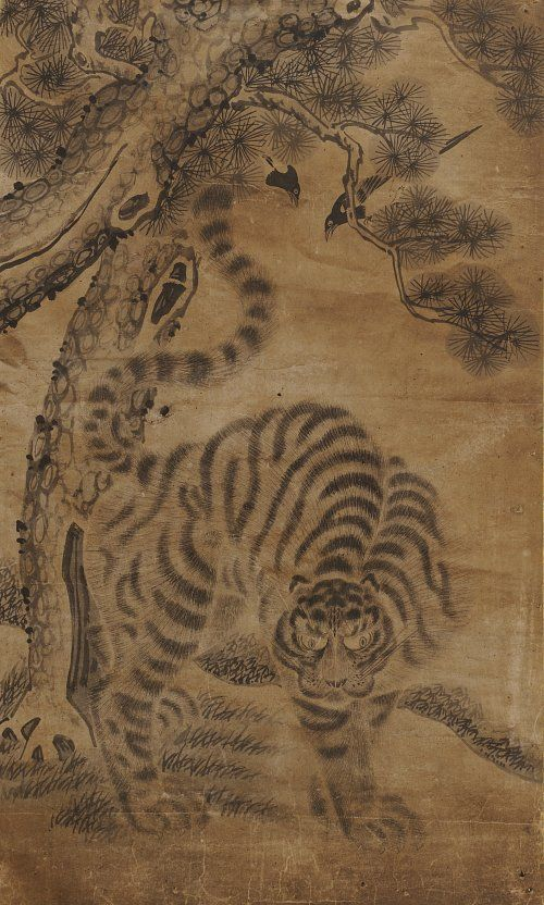 Daily Korean Stuff: Korean Tiger Folk Art 1: Tiger and Magpie Paintings (호작도)