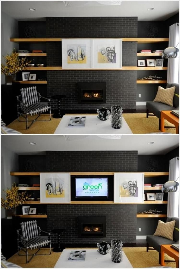 13 Cool Ways Ideas To Hide Tv Home Living Room Home And Living Hidden Tv