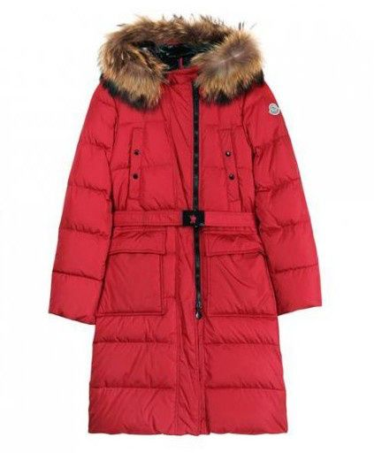 moncler red women's coat