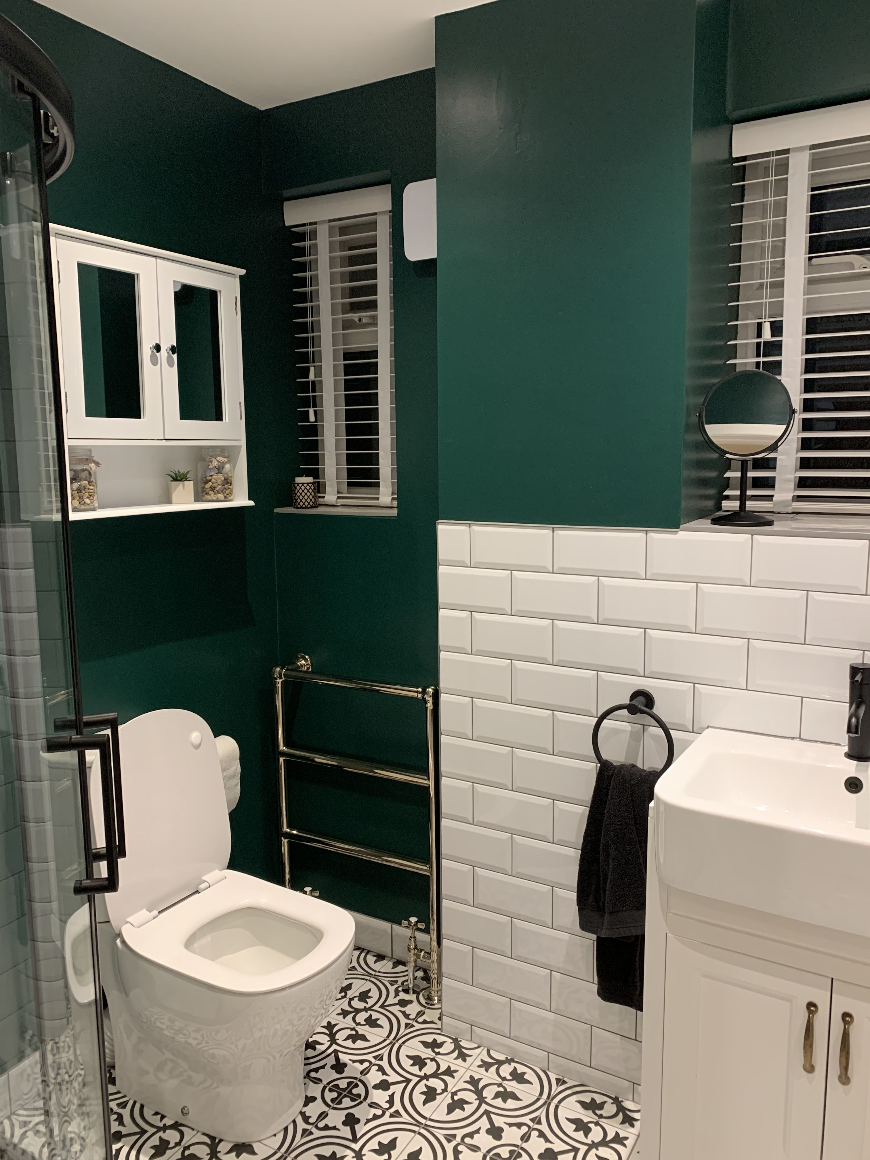 Dark Green Bathroom Dark Green Bathrooms Green Bathroom Green Tile Bathroom