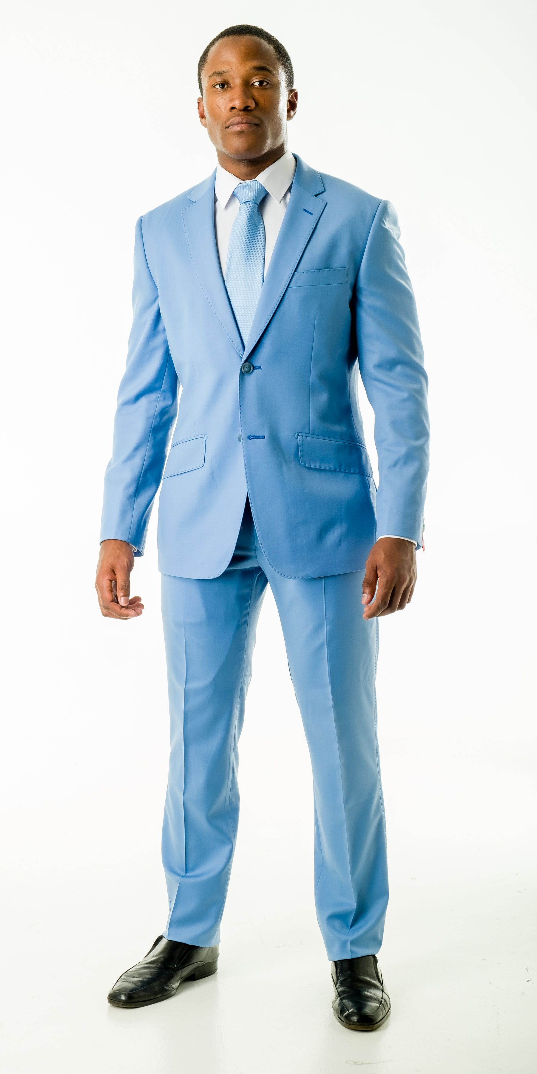 Light Blue Slim Fit Wool Suit | Wedding suits | Pinterest | Wedding ...