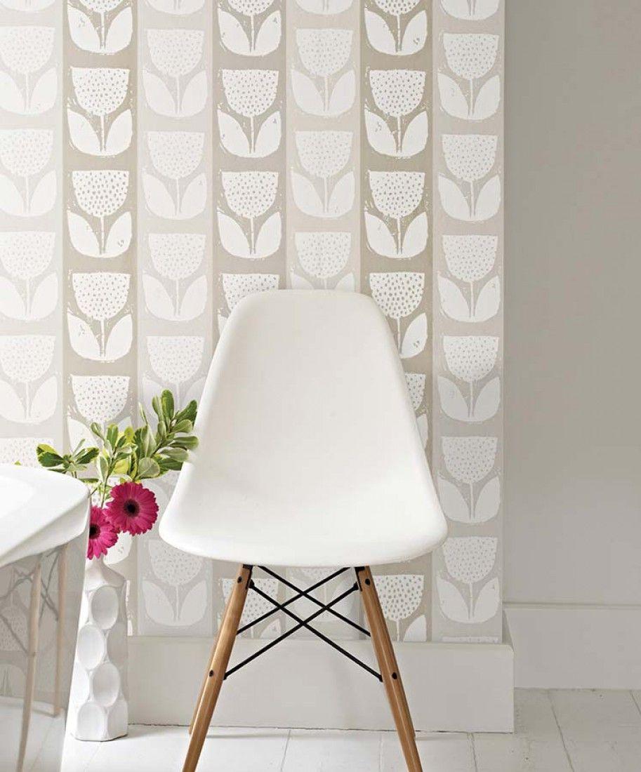 Ana | Papel de parede floral | Padrões de papel de parede | Papel de parede dos anos 70