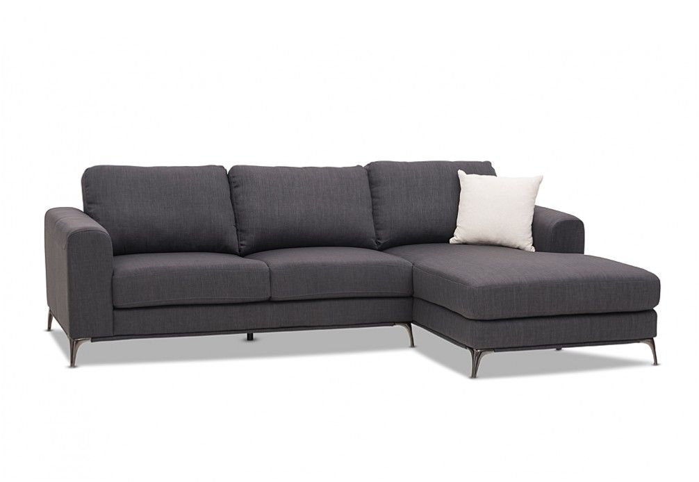 Hurley Fabric 3 Seater Sofa with Chaise | Super A-Mart  sc 1 st  Pinterest : 3 seater couch with chaise - Sectionals, Sofas & Couches