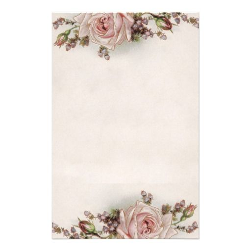 graphic regarding Free Printable Elegant Stationery Templates identified as Totally free Stationery Printable Exquisite Typical Roses Rather