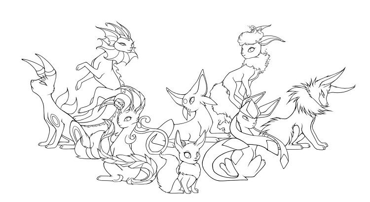 Pokemon Coloring Pages Eevee Evolutions Pokemon Coloring Pages Pokemon Coloring Coloring Pages
