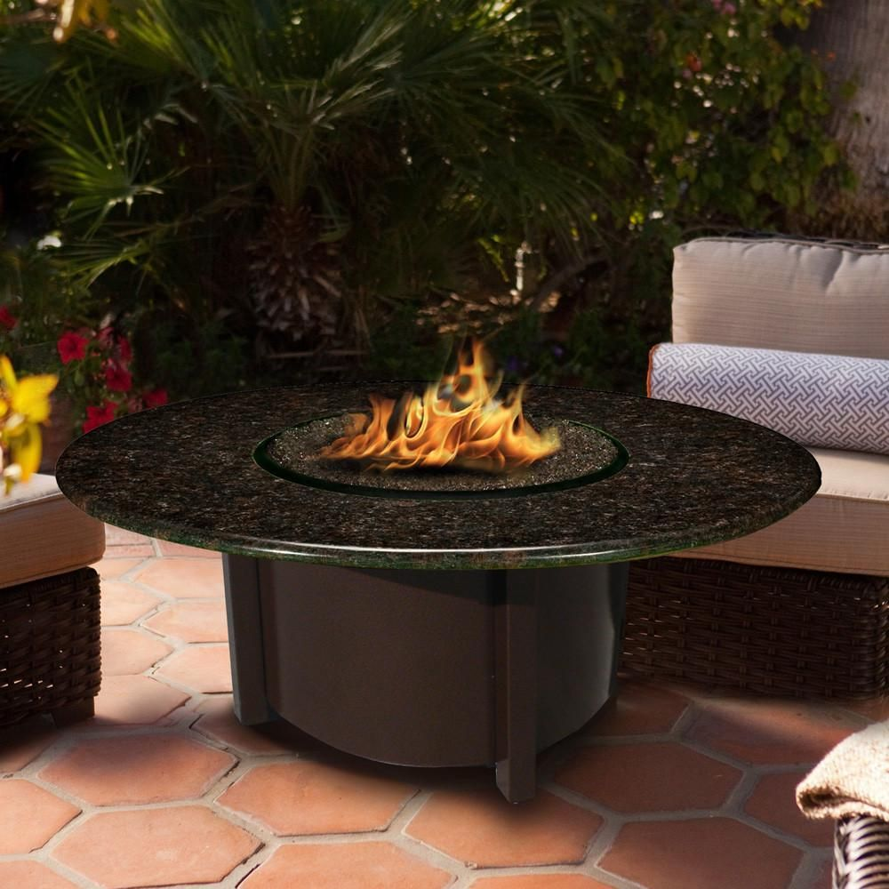 Carmel Chat Height Round Fire Pit With 42 Top