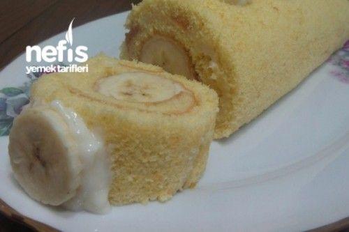 Yumuşacık Muzlu Rulo Pasta Tarifi | Kekler -Pastalar ...