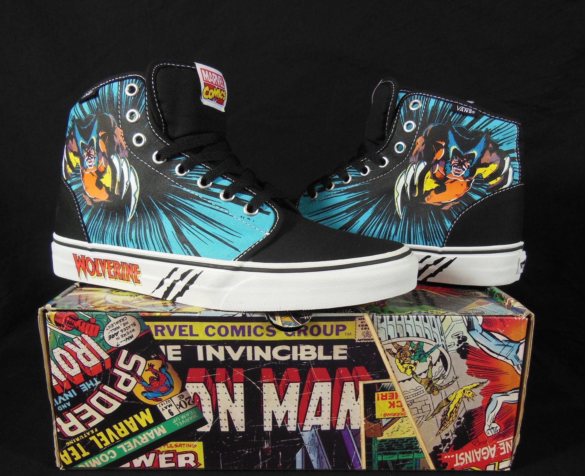 1323867fea54dc Vans Wolverine Marvel Comics Hi-Top Kicks   Sneakers