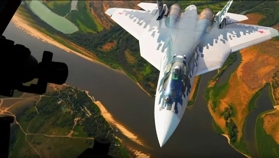 Su 57 At Ultra Low Altitude Video Fighter Aircraft Stealth