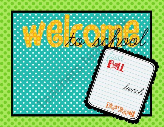 Open House power point templates perfect for back to school