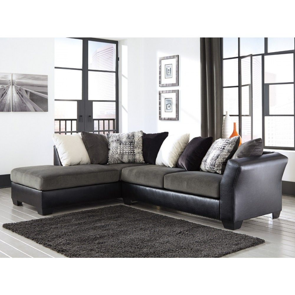 Ashley Furniture Armant Sectional In Ebony Space Saving Sectionals - Ashley furniture sectional sofas price