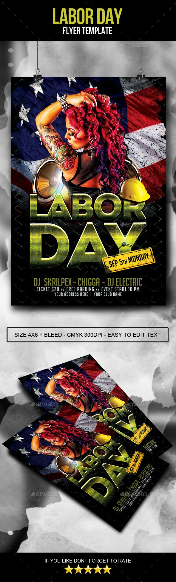 Buy Labor Day Flyer By AyumaDesign On GraphicRiver. This Flyer Is Perfect  For Celebrate Your Event In Labor Day.