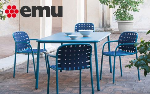 colourful outdoor table and chairs google search - Table De Jardin Emu