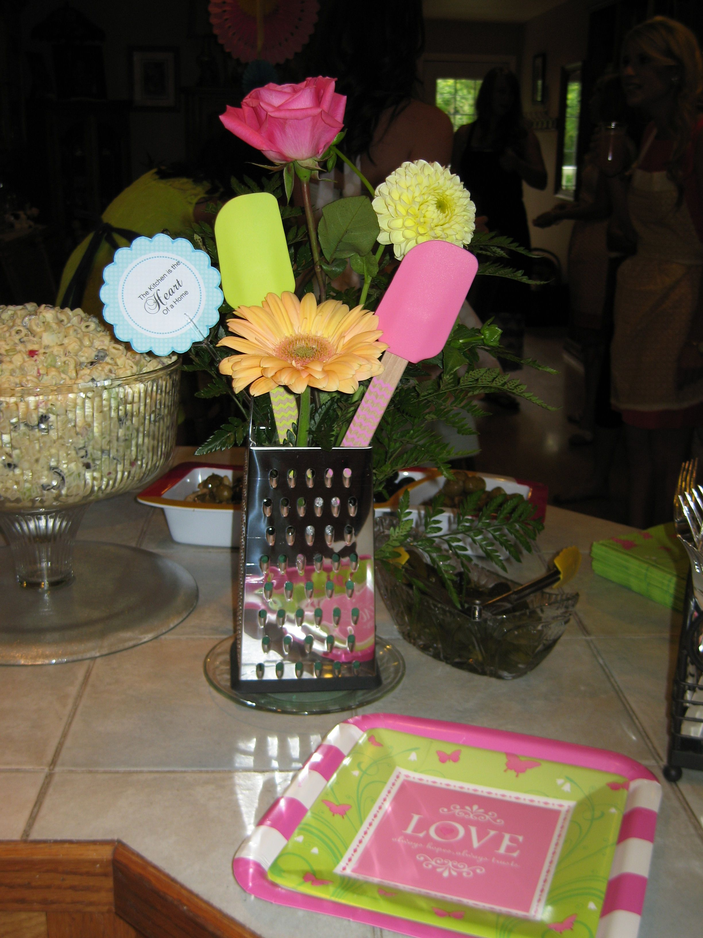Kitchen Themed Bridal Shower Towels Target Cheese Grater Centerpiece Ideas