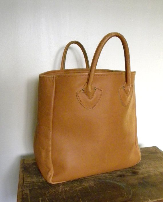 Vintage L Bean Field Tote Tan Leather Bag 1960s Ping Or Purse