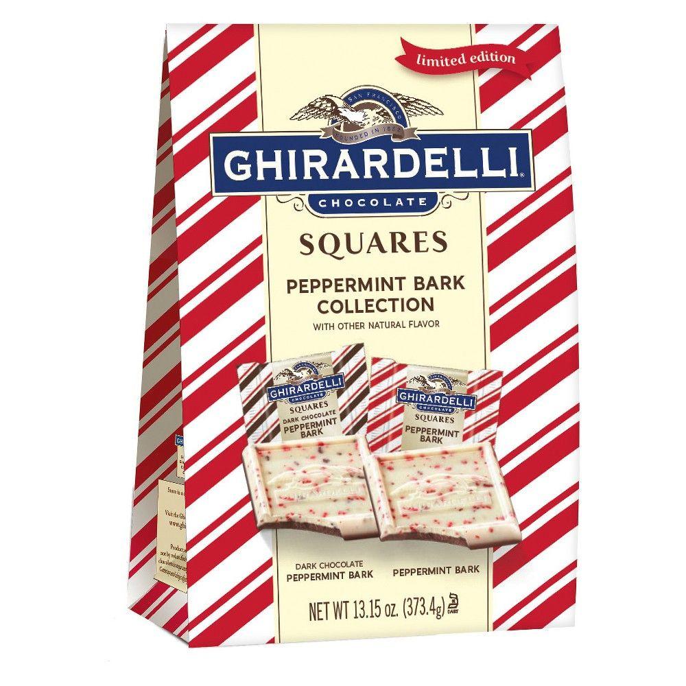 Ghirardelli christmas peppermint bark squares xl bag 13