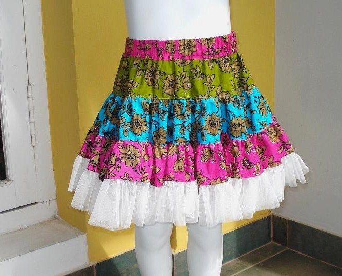 Ruffle Skirt Sewing Pattern , Twirly Swirly Skirt with head band ...