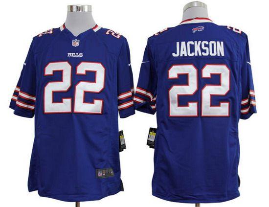 Nike Bills #22 Fred Jackson Blue Team Color Mens NFL Game Jersey ...