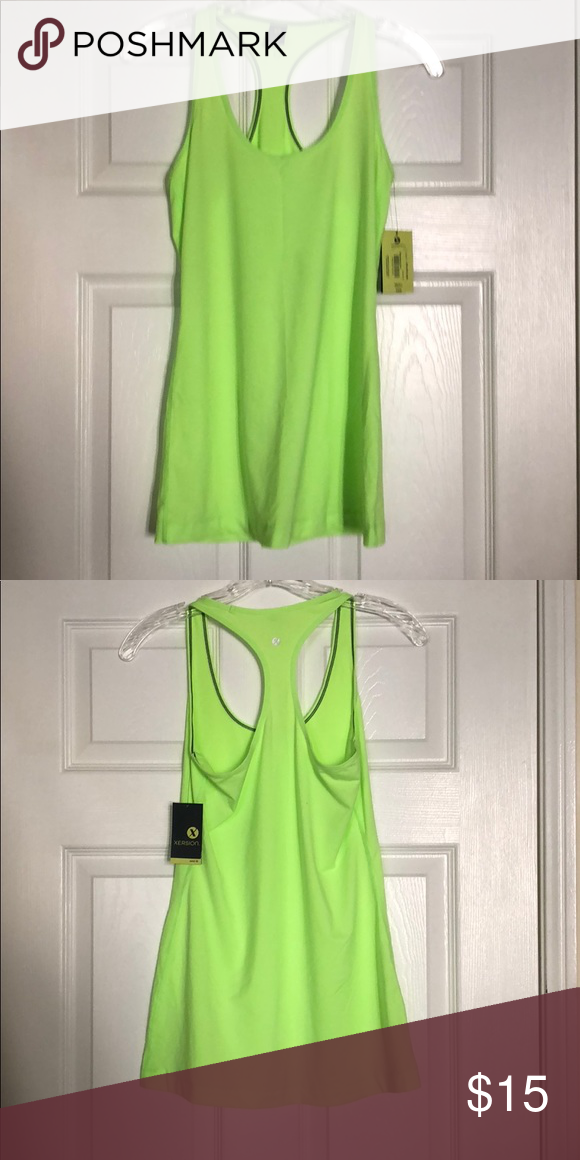 fc0a3c80c2b7 Xersion lime green tank top size small brand new Xersion lime green tank  top size small brand new with tags Xersion Tops Tank Tops