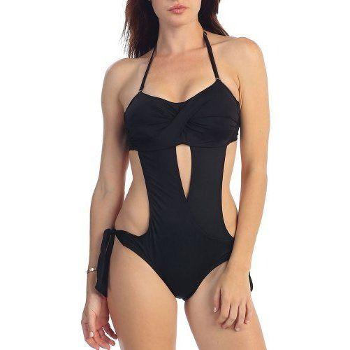 Fashion Swim Women's One Piece Solid Halter Extre ($31.98)