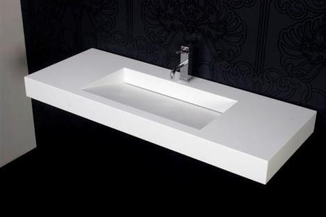 Solid Surface Wastafel Manya ML enkele wastafel Afmeting: B 120 x D ...