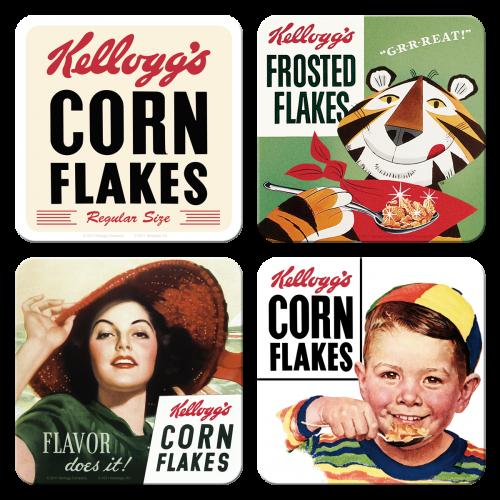 Zestaw Podkladek Kellogg S Corn Flakes Nostalgic Art Metal Coasters