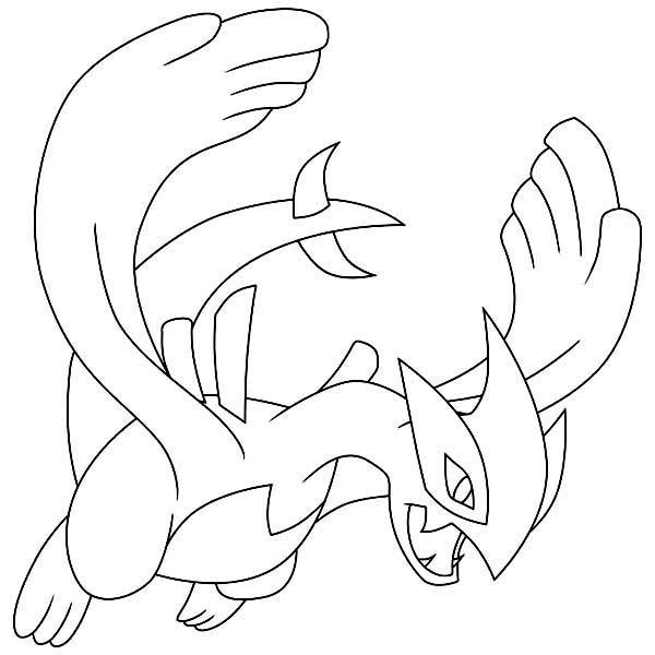 Lugia Legendary Pokemon Coloring Page Pokemon Coloring Pages