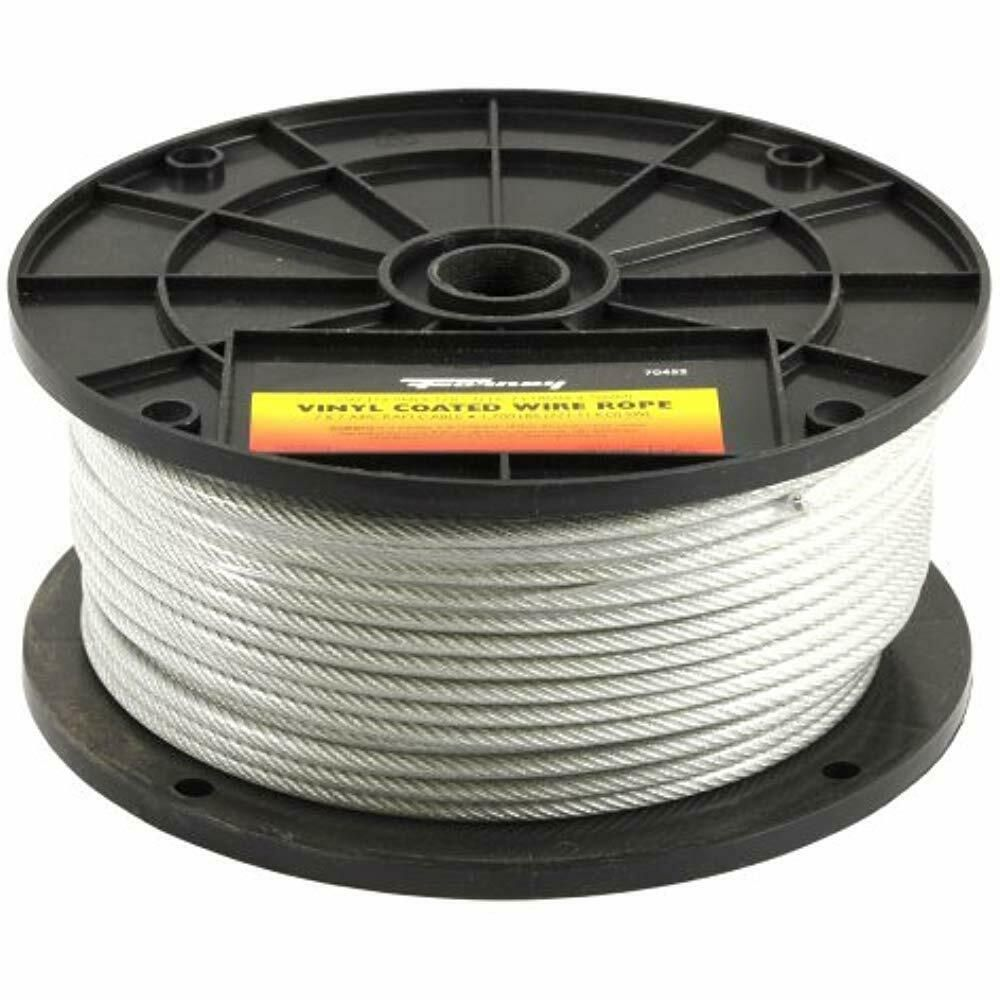 Sponsored Ebay Forney Cable Wire Rope 70452 Rope Vinyl Coated Aircraft Cable Thru 3 16 Inch Cable Wire Stainless Steel 304 Things To Sell