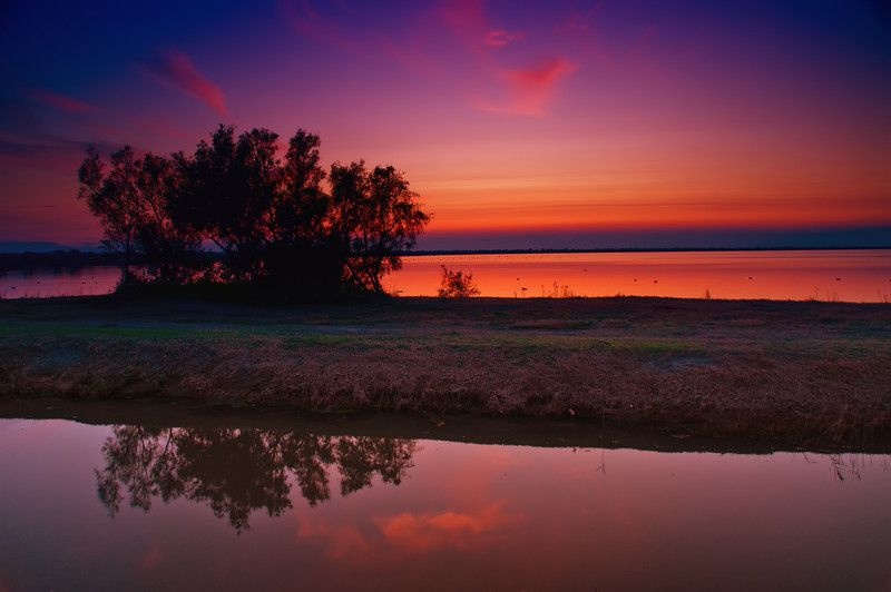 Camargue France sun set