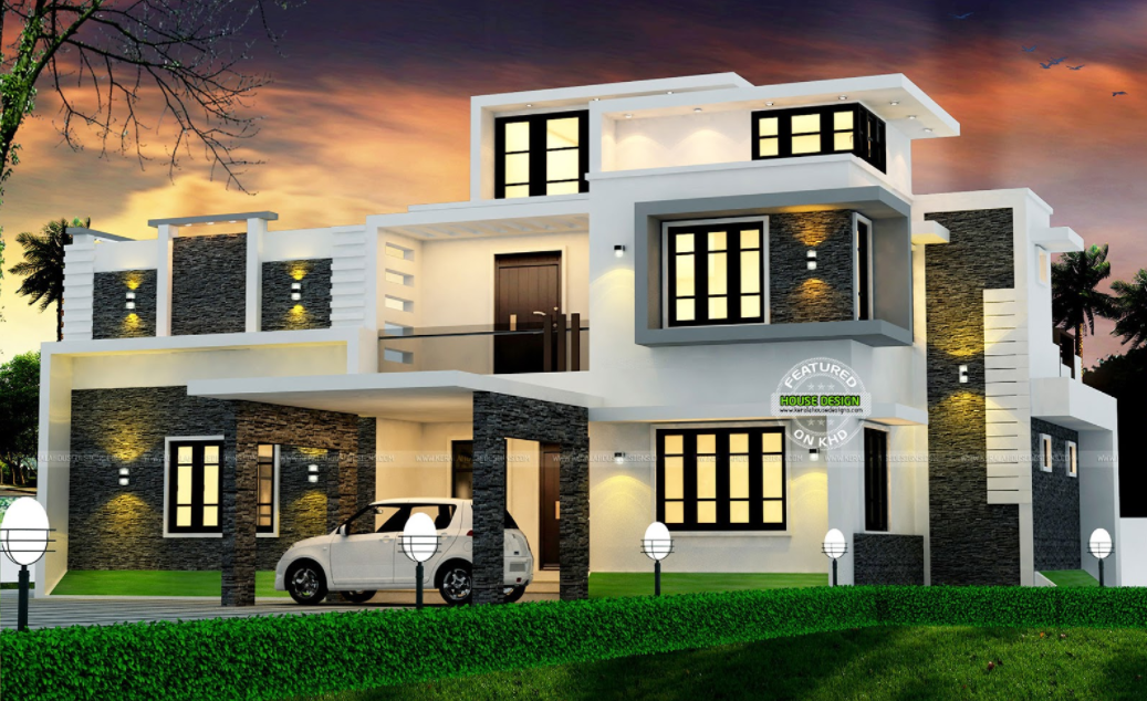 Spectacular Modern Box Type House With Estimated Construction Cost