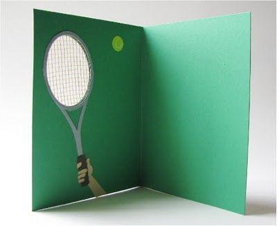 Carte Anniversaire Tennis.Tennis Card Tennis Anniversaire Tennis Raquette De