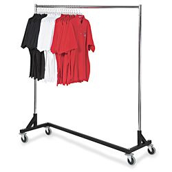 Rolling Z Rack Black Hang Whiteboard Material Instead