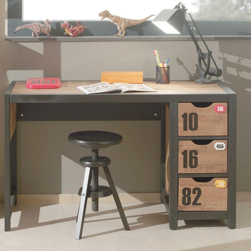 Office Computer Desk Childrens Bedroom Furniture Industrial Writing ...