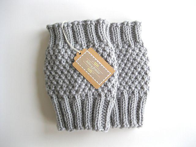 Moss Stitch Boot Cuff Pattern By Hilary Frazier Beginner Knitting