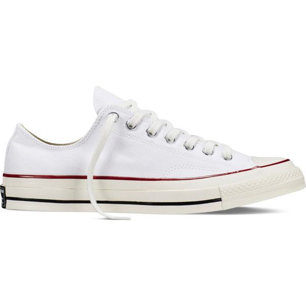 8db69f338a8e Converse Chuck Taylor All Star ˜70 – white red black Sneakers ( 80) ❤ liked  on Polyvore featuring shoes