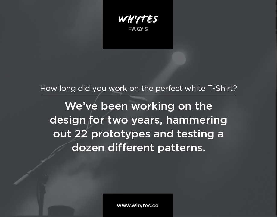whytes FAQ's: How long did you work on the #perfectWhiteTshirt? #madeInGermany #startup #lifestyle
