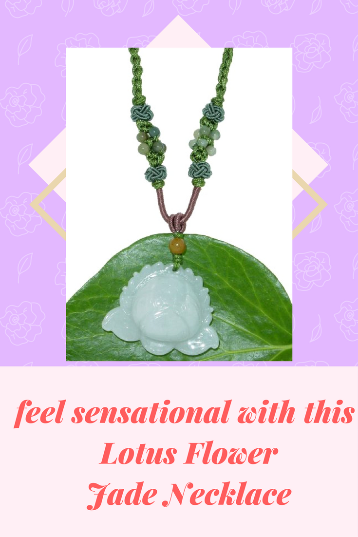 The Lotus Flower Jade Necklace Represents Balance Peace Purity