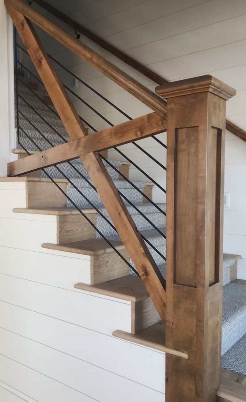 Pin By Jamie Crawford Conover On Entryway Farmhouse Staircase House Farmhouse Stairs