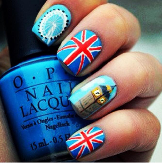 Nail Art London: British Flag Nails, Nail Art Designs