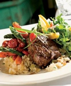 Reno, NV: Basque lamb chops with tomatoes & olives (recipe from kouz-cooking.com). #USAABestPlaces #usaa #recipe