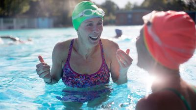 All you need to know about learning to swim and getting into swimming, diving, synchro, water polo and aqua fitness.