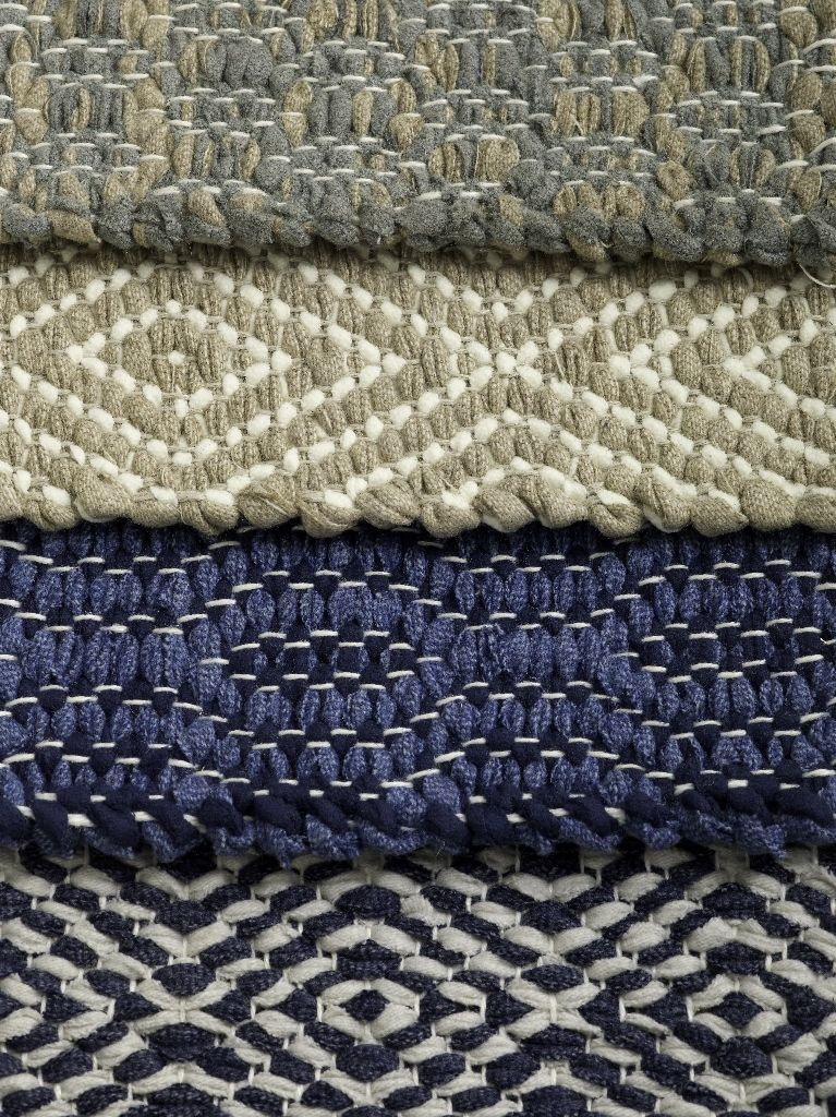 Handwoven Rag Rugs Made Of Cotton Wool Felt And Linen Yarns From Vandra At