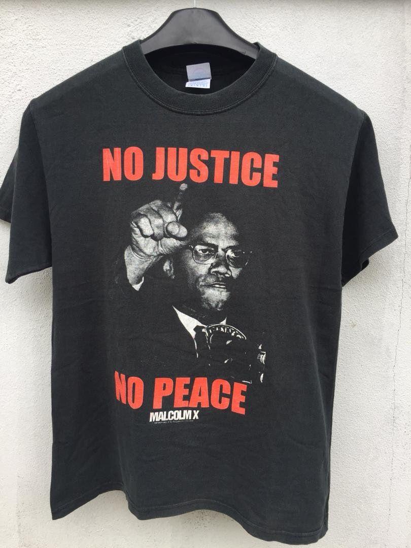 Vintage Malcom X Shirt Vintage Malcom Shirt No Justice No Etsy Justice Shirts Shirts Cool Shirts