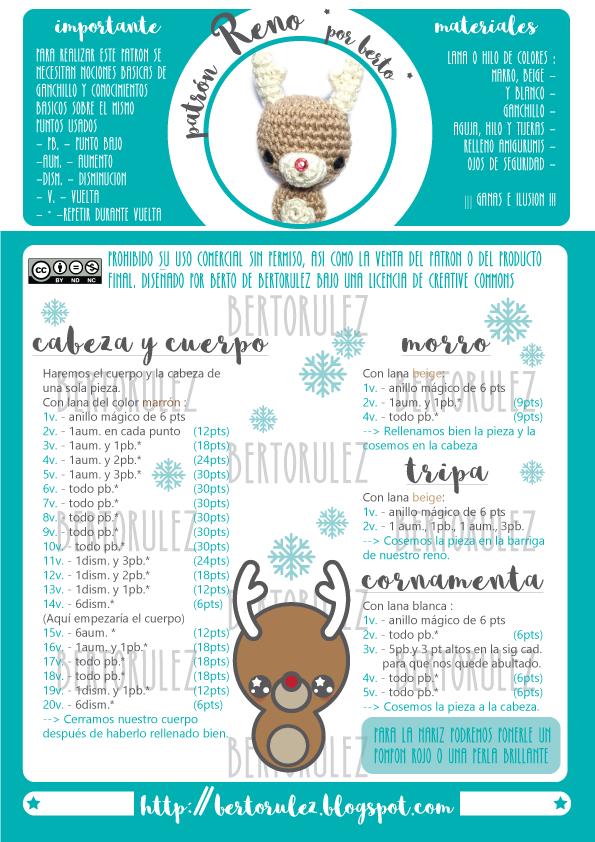 Patron Reno | AMIGURUMIS | Pinterest | Amigurumi, Crochet y Navidad