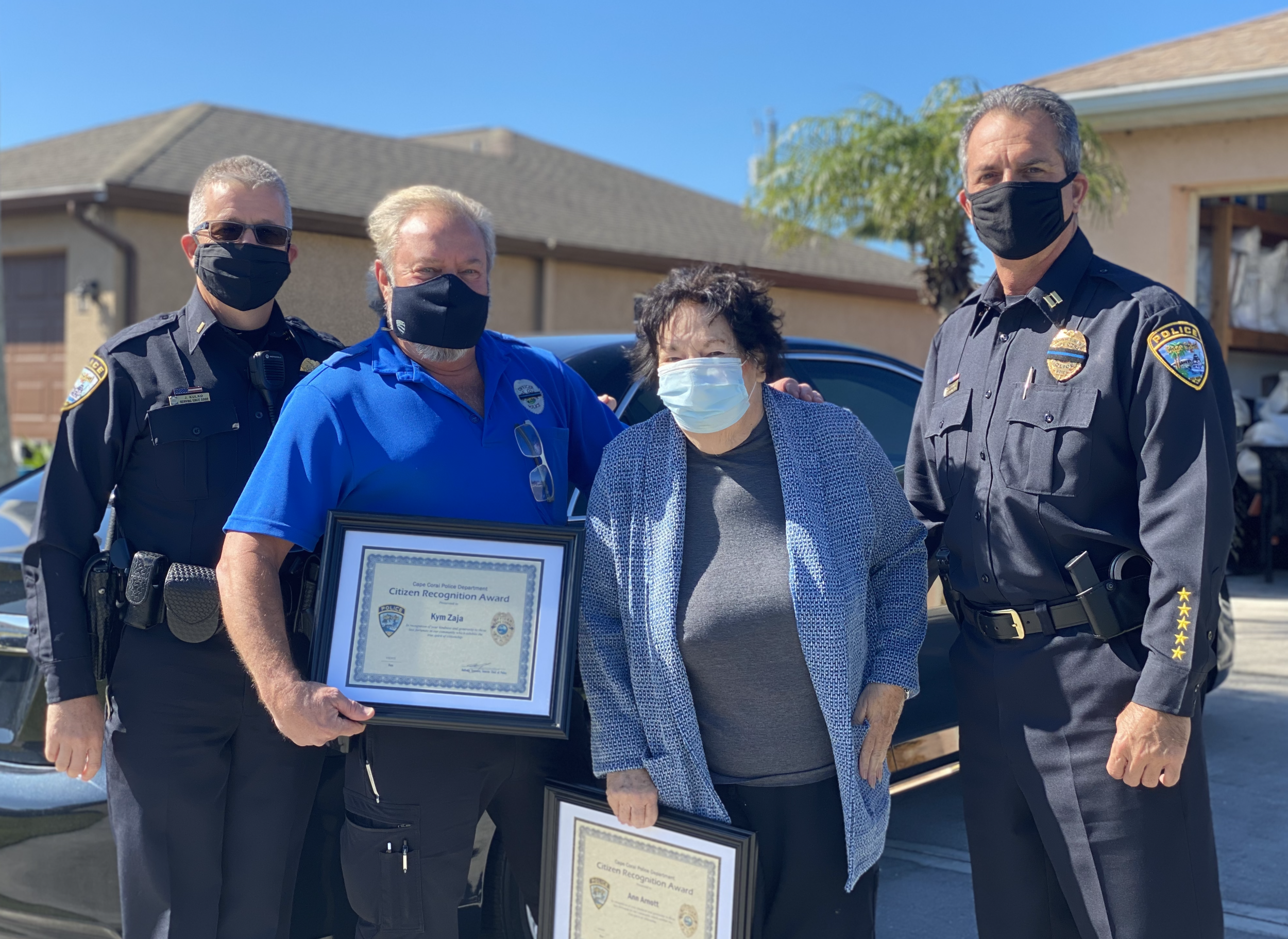 Ann Arnott Of Project Kindness Receives The Chief S Special Recognition Award Cape Coral Police Department In 2021 Recognition Awards Recognition Police Department