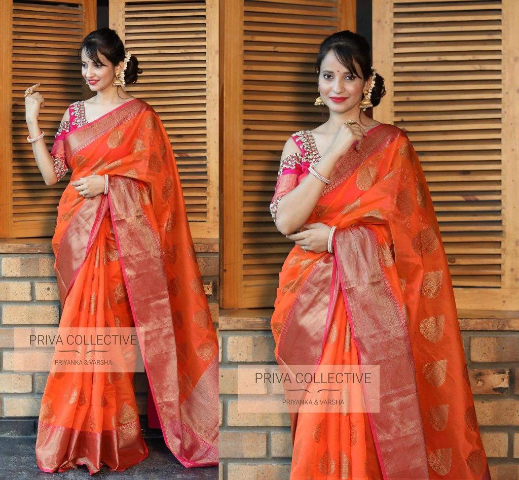 4ee0d5b145 Banarasi muslin silk saree with running blouse and rich contrast zari border