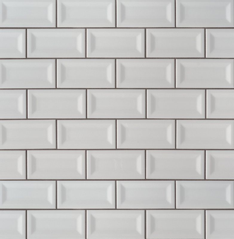 Inverted 3 X 6 Beveled Ceramic Subway Tile In Glossy Gray Ms International Ceramic Subway Tile Grey Subway Tiles Beveled Subway Tile
