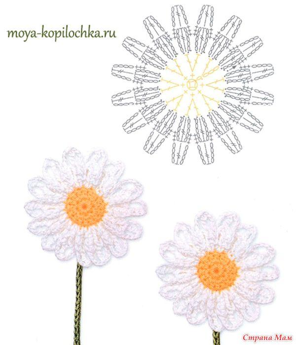 Вязаные цветы. 100 цветочных мотивов для вязания крючком со схемами ...